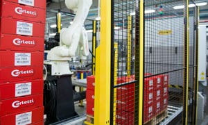 Palletising with industrial robotics