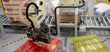 Mixed packing and mixed palletising with robotics